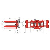 T451W180 Pallet Turnover Clamp
