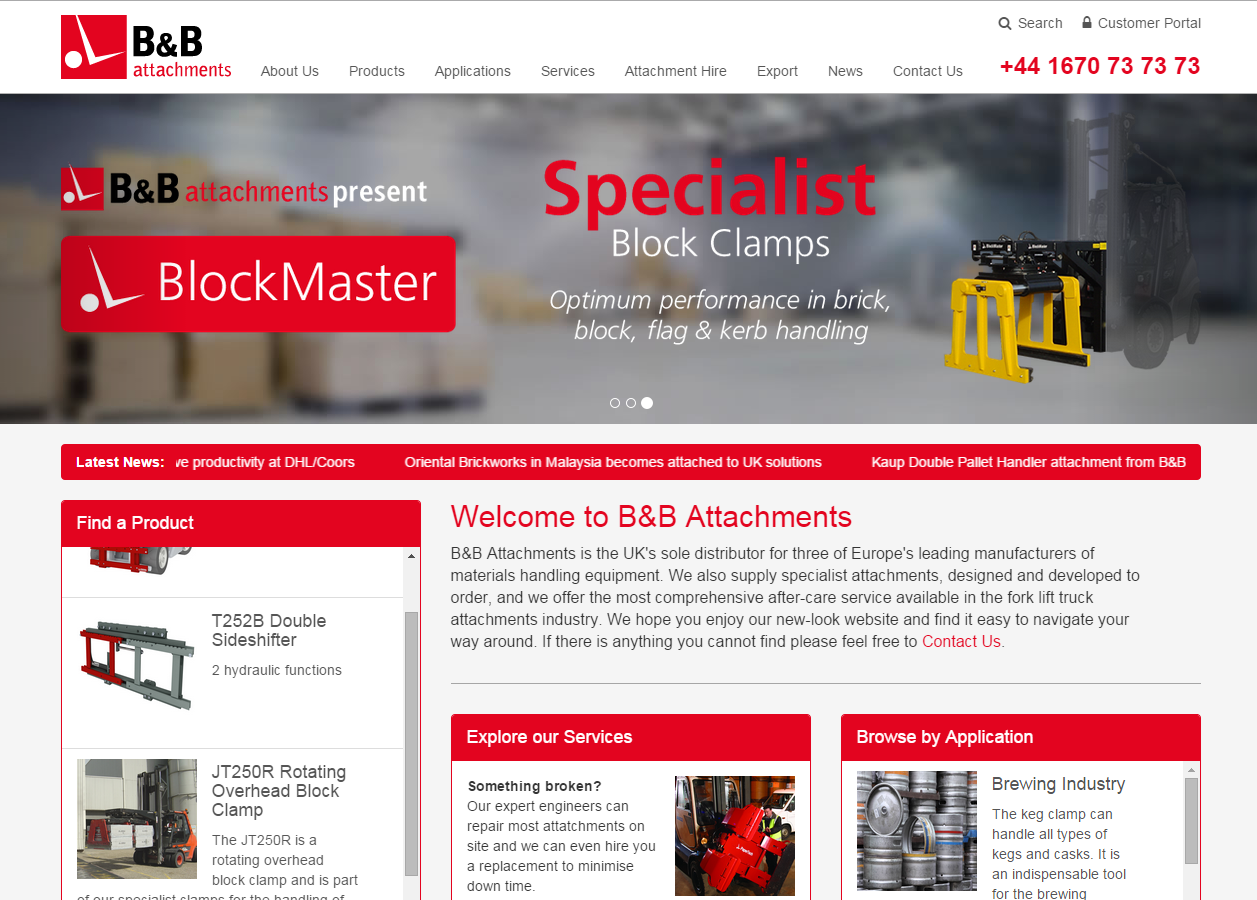 B&B Attachments Launch New Website