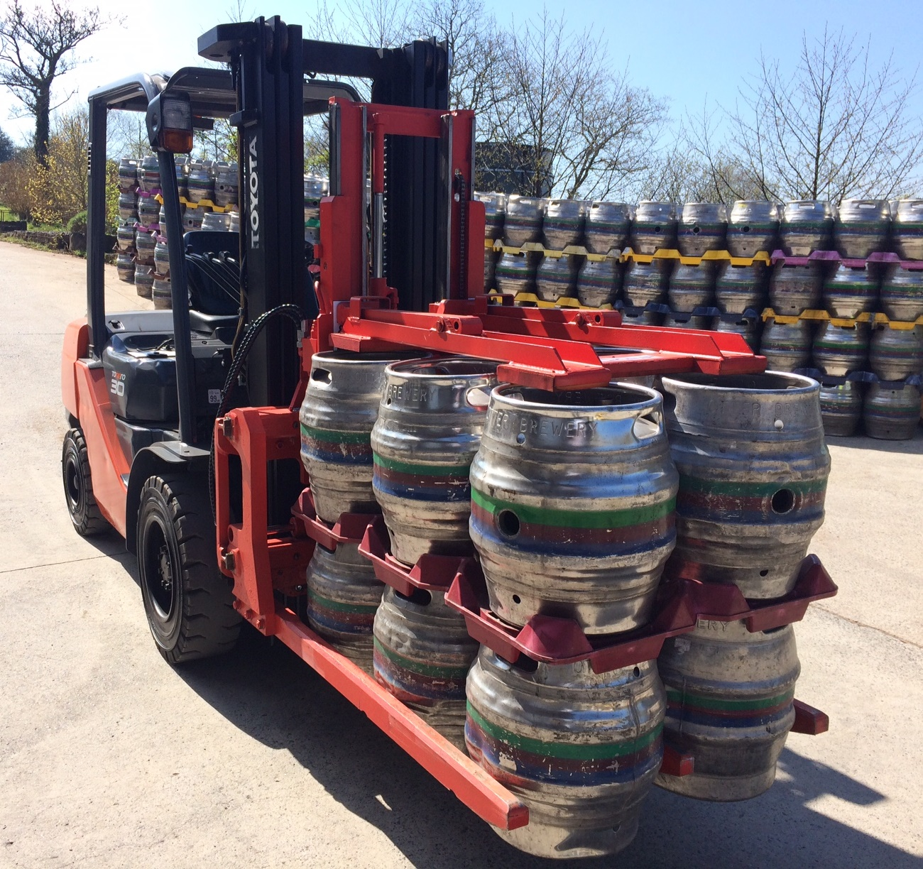 KAUP Customised Keg Clamp Attachment Improves Productivity at Otter Brewery